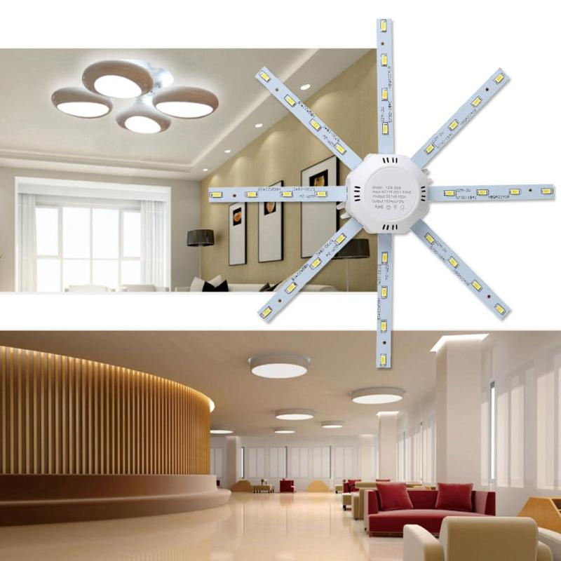 220V 56LED Ceiling Panel Light 12/16/20/24W 500LM Octopus Shaped Indoor Bedroom Home Ceiling Panel Night Light Module Lamp Board