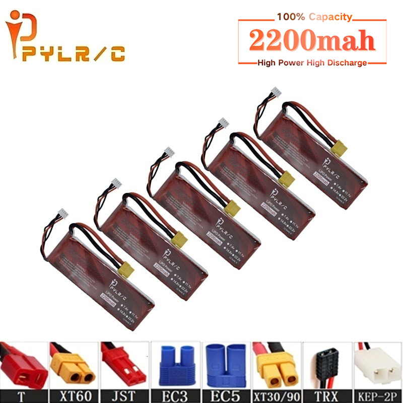 High Rate <font><b>14.8v</b></font> <font><b>2200mAh</b></font> Lipo Battery For RC Helicopter Parts 4s Lithium battery <font><b>14.8v</b></font> 50C RC Cars Airplanes Drone Battery T/XT60 image