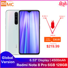 "Versión Global Redmi Note 8 Pro 6GB RAM 128GB ROM 64MP Quad cámaras MTK Helio G90T Smartphone 4500mAh 6,53 ""FHD 18W QC3.0 NFC(China)"