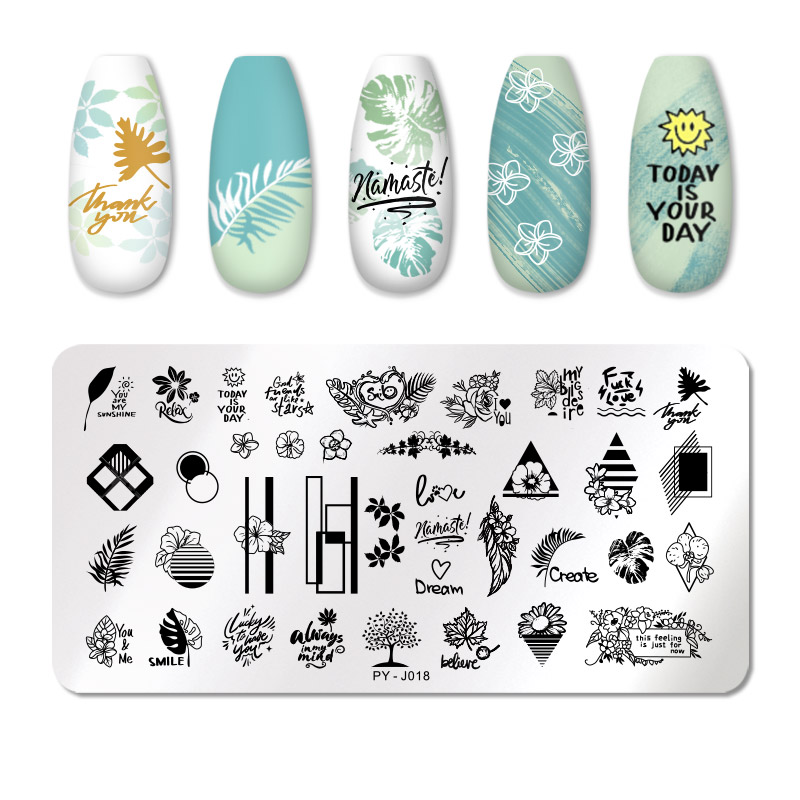 PICT YOU 12*6cm Nail Art Templates Stamping Plate Design Flower Animal Glass Temperature Lace Stamp Templates Plates Image 59