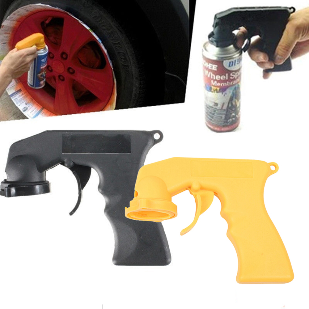 Spray Adapter Paint Care Aerosol Spray Gun Handle With Full Grip Trigger Locking Collar Car Maintenance
