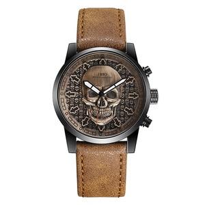 Image 3 - IBSO Brand Vintage Bronze Skull Watch for Men Creative Skull Sport Quartz Hours Male Wristwatch Clocks Hiphop relogios masculino