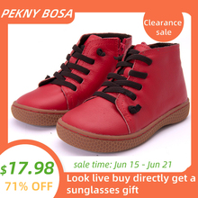 PEKNY BOSA Brand Children toddler snow boots Girls boys Winter Boots Plush Kids