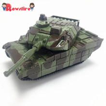 1Pcs Mini Children Mini Pull Back Army Vehicle Tank Model Toy - Yellow Camouflage/Green Camouflage(China)