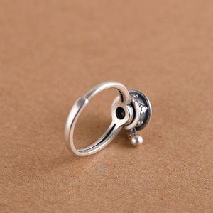 Image 5 - Женское серебряное кольцо GAGAFEEL, Открытое кольцо в стиле ретро из тайского стерлингового серебра 925 пробы с шестисловом и мантрой, ювелирные украшения для молитвенного колеса