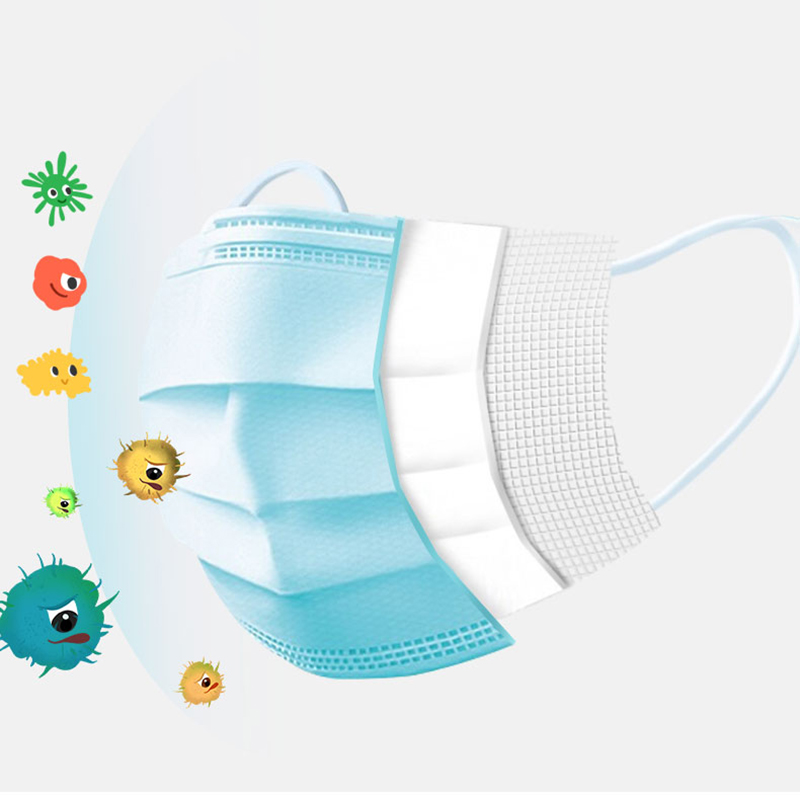 Image 4 - Fast Delivery Disposable Face Mask 3 Layers Anti Dust Non Woven 