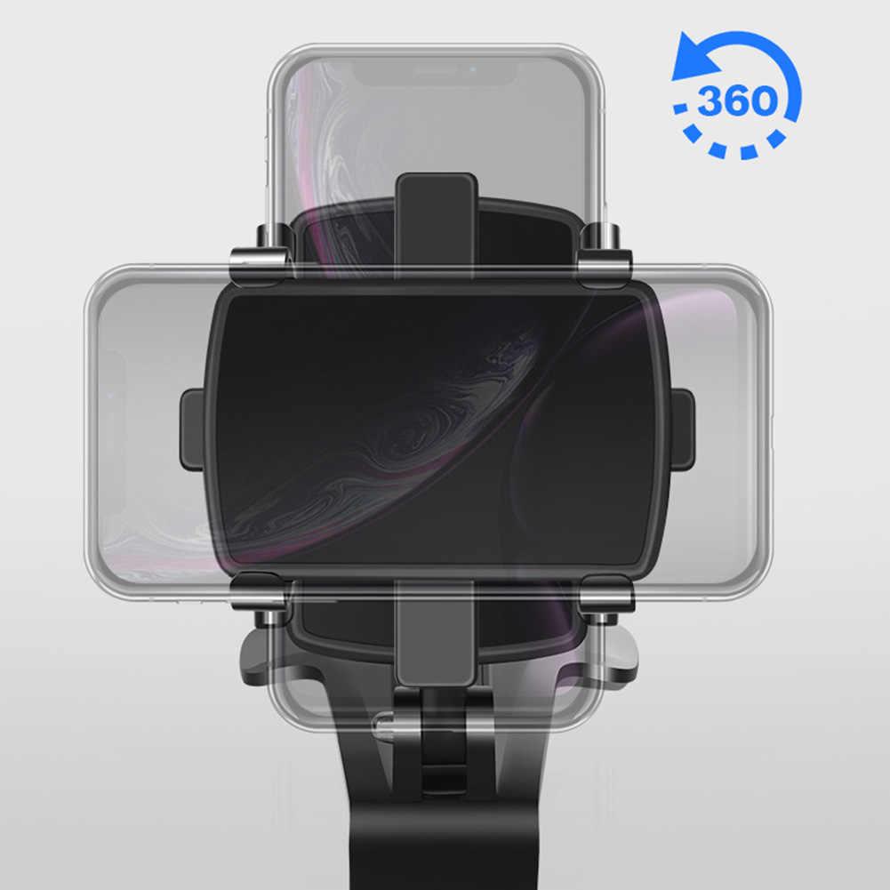 Tahan Lama Ponsel Dasbor Mobil Pemegang 360 Derajat Diputar Navigasi Mobil Kaca Spion Universal Ponsel Berdiri Mount