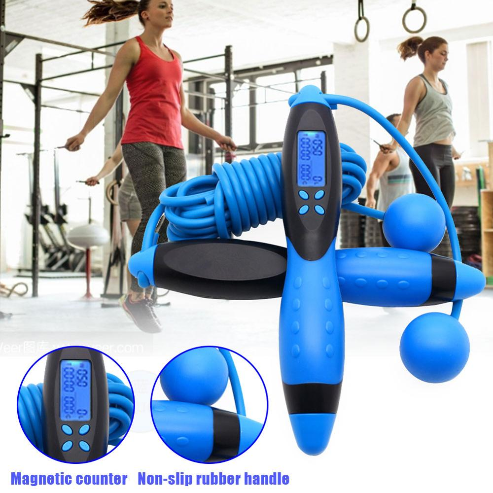 Smart Electronic  Jump Rope Digital Counter Adult Fitness Indoor/Outdoor Skipping Rope Calorie Multipurpose Skipping Rope