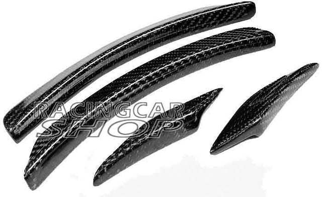 AMG STYLE REAL CARBON FIBER WHEEL ARC WHEEL TRIM SPOILER FOR BENZ W204 C-CLASS C200 C230 C280 C300 C250 C180 C350  08-2012 M075 5