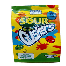 100pcs gushers skittles Garrison Lane conneted nerds rope medicated Zip lock Pouches Aluminum Mylar Edibles Bags