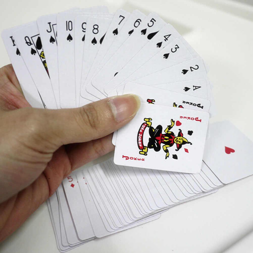 Tragbare Folie Überzogen Mini Poker Traditionellen Set Casino Werkzeug Bord Spiel Wasserdicht Glücksspiel Spielkarten Mini Poker