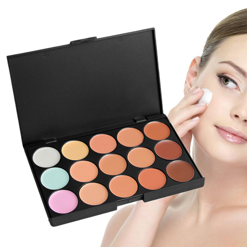 15Colors Professional Nourishing Repair Concealer Whiten Brighten Nude Fundation Cream Moisturizer Light Cosmetics Palette TSLM2