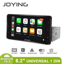 Android 10 Head Unit Auto Radio 6.2 Inch 4Gb + 64Gb Ondersteuning 4G & Carplay & Android auto & Snelle Boot Audio Rds Video Gps Navigatie 5G Wif