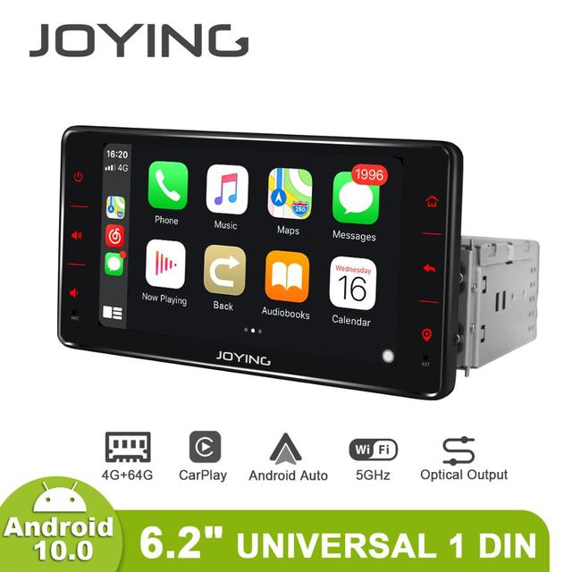 Android 10 head unit car radio 6.2 inch 4GB+64GB support 4G&Carplay&Android auto&Fast Boot audio RDS video GPS Navigation 5G WIF