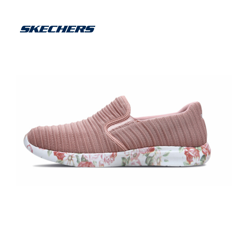 <font><b>Skechers</b></font> <font><b>Women</b></font> Flat Shoes Casual Loafers Slip On Shoes Woman Genuine Comfortable Lightweight Flats Sport Shoe Woman 66666087-ROS image