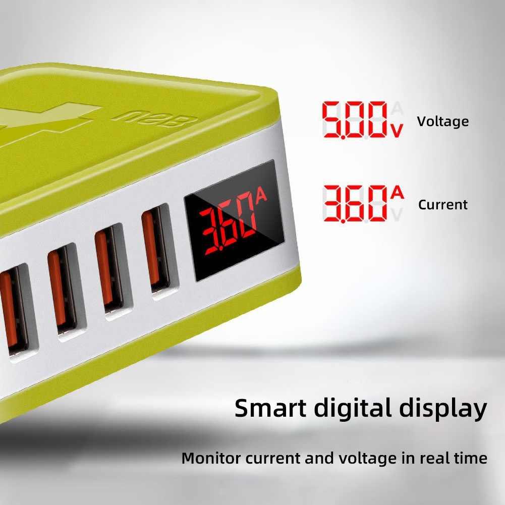 48W 2/4 USB bağlantı noktası dijital ekran katlama fişi QC4.0 3.0 duvar şarj adaptörü