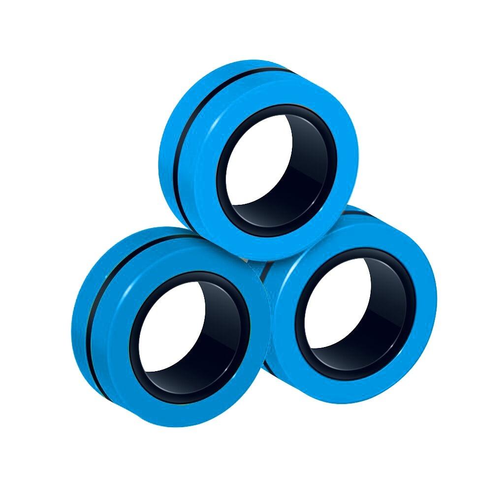 Toy Fidget-Toys Magic-Ring-Props Stress Magnetic Unzip 3pcs Zabawki img3