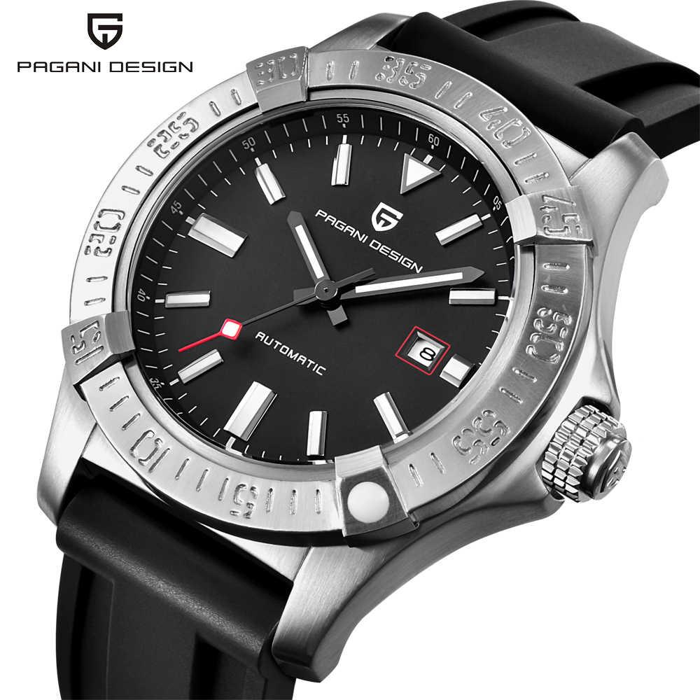 パガーニデザインメンズ腕時計トップの高級クラシックラバーストラップ機械式時計ファッションカジュアル防水 30 メートル腕時計自動 saat