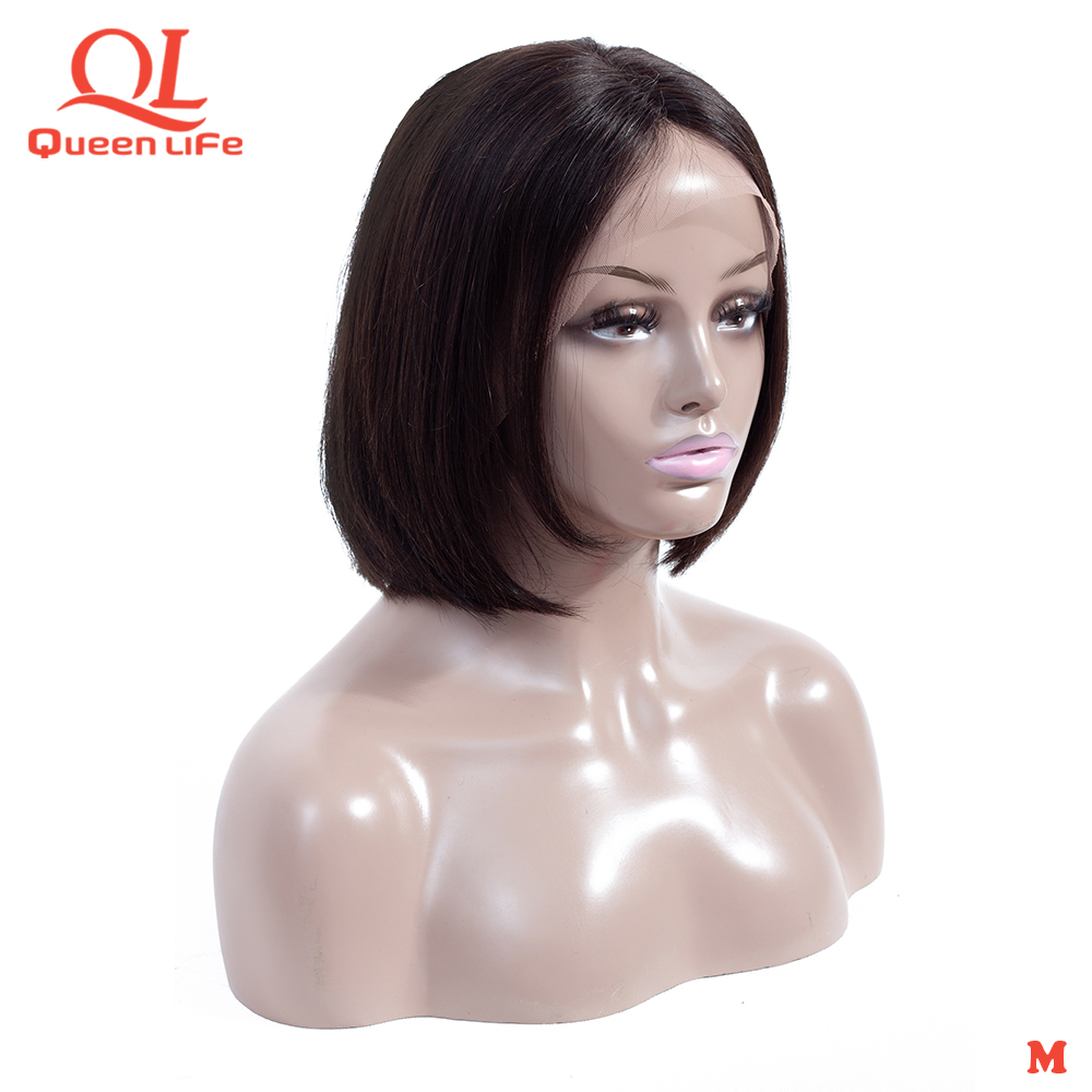 Queenlife Short Bob wigs straight Lace Front human hair wigs 13x4 150% Density Brazilian Remy wigs for women bob lace front wigs