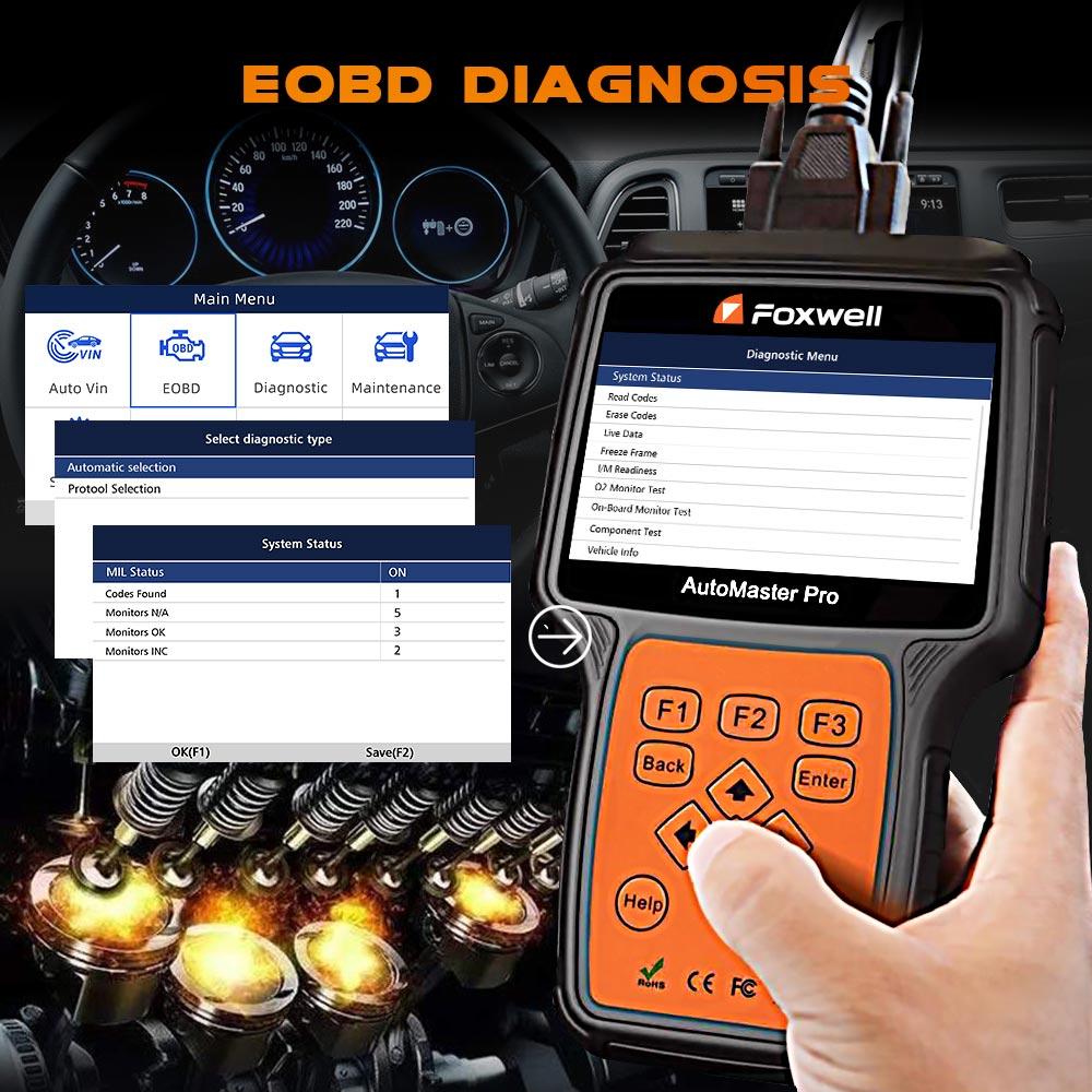 Image 3 - Foxwell nt680 pro todos os sistemas scanner de diagnóstico com luz de óleo/restauração serviço + funções epb versão atualizada do sistema completo nt624Leitores de código & Ferramentas de Verificação   -