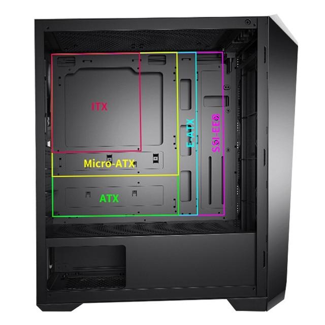 IPASON Powerful Gaming Computer 10-Core I9 9900K Upgrade 10900K 2080 Super 8G Upgrade 3070 8G High Performance Gaming Desktop PC