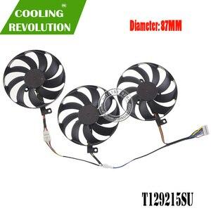 87MM T129215SU carte graphique ventilateur de refroidissement RX 5600 XT RX 5700 RX 5700 XT pour ASUS ROG Strix RX 5600 XT RX 5700 RX 5700 XT