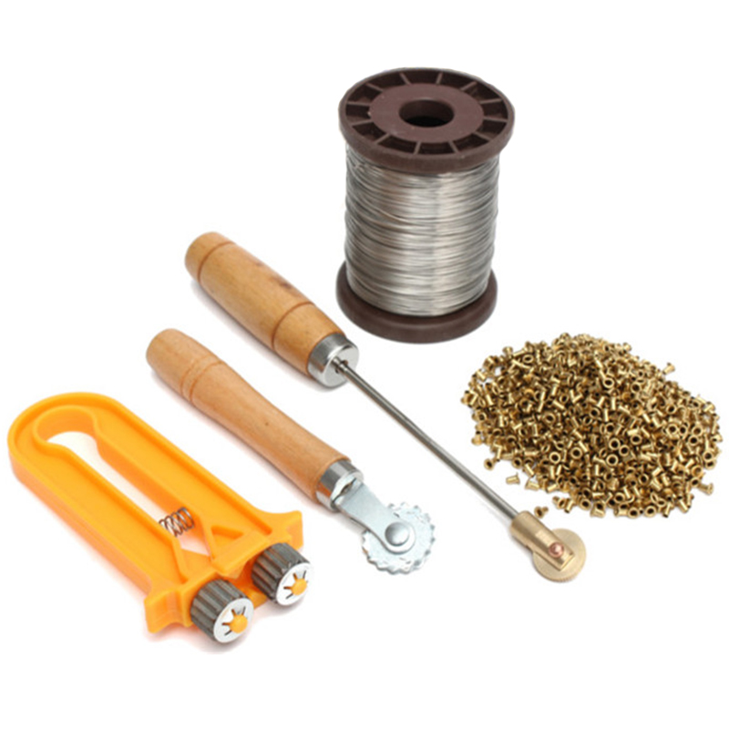Eyelets Beekeeping Bee Frame Wire Cable Tensioner Crimper Frame Hive Wire Embedders Beekeeping Tools