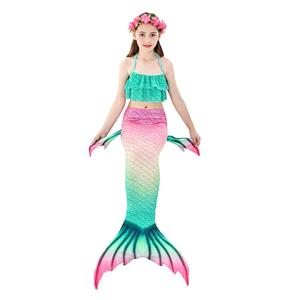 Image 4 - Swimmable Children Mermaid Tails With Monofin Fin Bikinis Set Kids Swimsuit Cosplay Costume for Girl Swimming Dresses Clothes