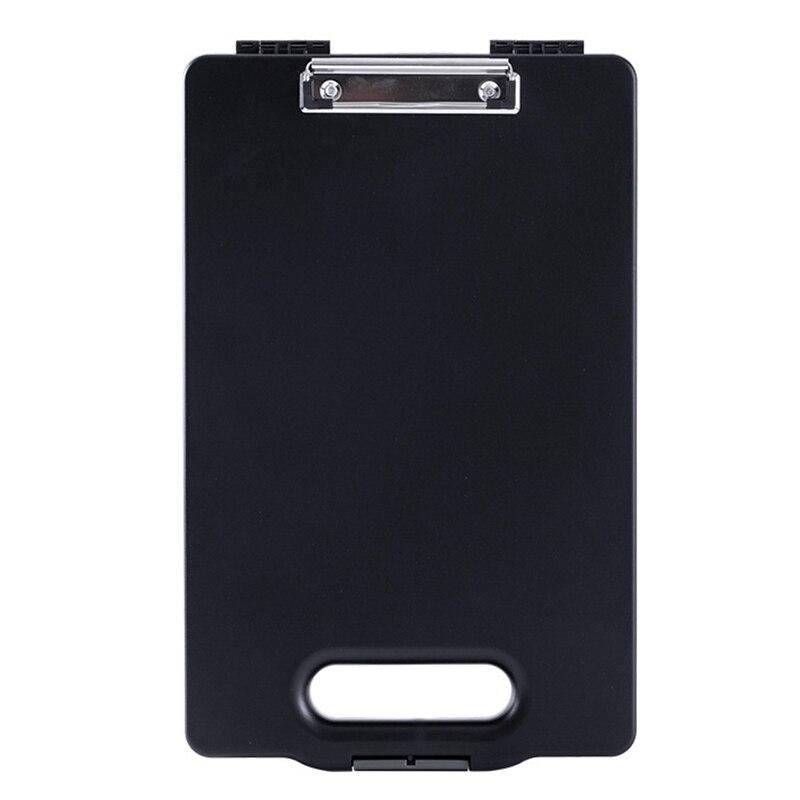 A4 Plastic Storage Clipboard File Box Case Document File Folders Clipboard Portable Clipboard Storage Case