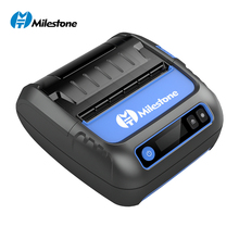 All in One 80mm Label Receipt Printer Thermal Portable Bluetooth Printer Support Windows Android IOS POS Mobile Barcode Printer