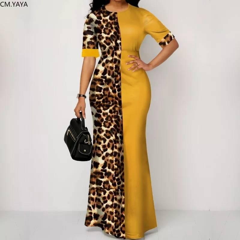 S-5XL Frauen Sommer Mode Kleid Lange Maxi Kleid Leopard Drucken Taschen Sexy Bandage Strand Nacht Club Party Kleider Vestido GL975
