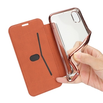 Slim Leather Case for iPhone X 8 7 6 6S Plus 5 5S SE Case for XS Max XR Clear Back Soft TPU Flip Wallet Phone Case Capa Coque 6