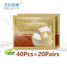 PILATEN 40Pcs=20Pairs Crystal Collagen Eye Mask for Eyes Face Skin Care Anti Wrinkle Cosmetics Moisture Dark Circle Eye Mask