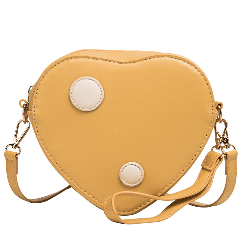 New Heart shaped Fashion Women Shoulder Bag PU Leather Womens Crossbody Messenger Bags student bag ZX-098.