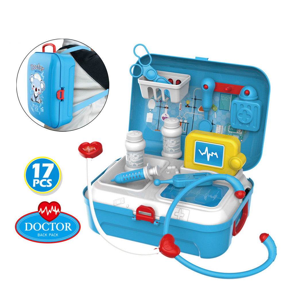 Education For Kids Fun Learning Toys For Children Medical Kit Doctor Nurse Dentist Pretend Roles Play Toy Set Kids Gift W821