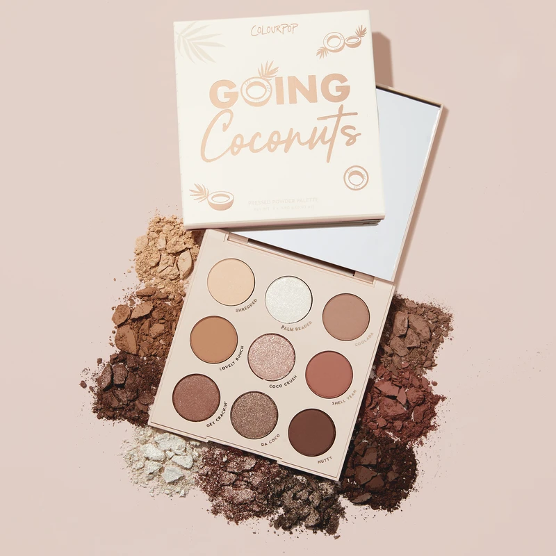 Colourpop Glitter And Matte 9Colors  Going Coconuts Shadow Palette