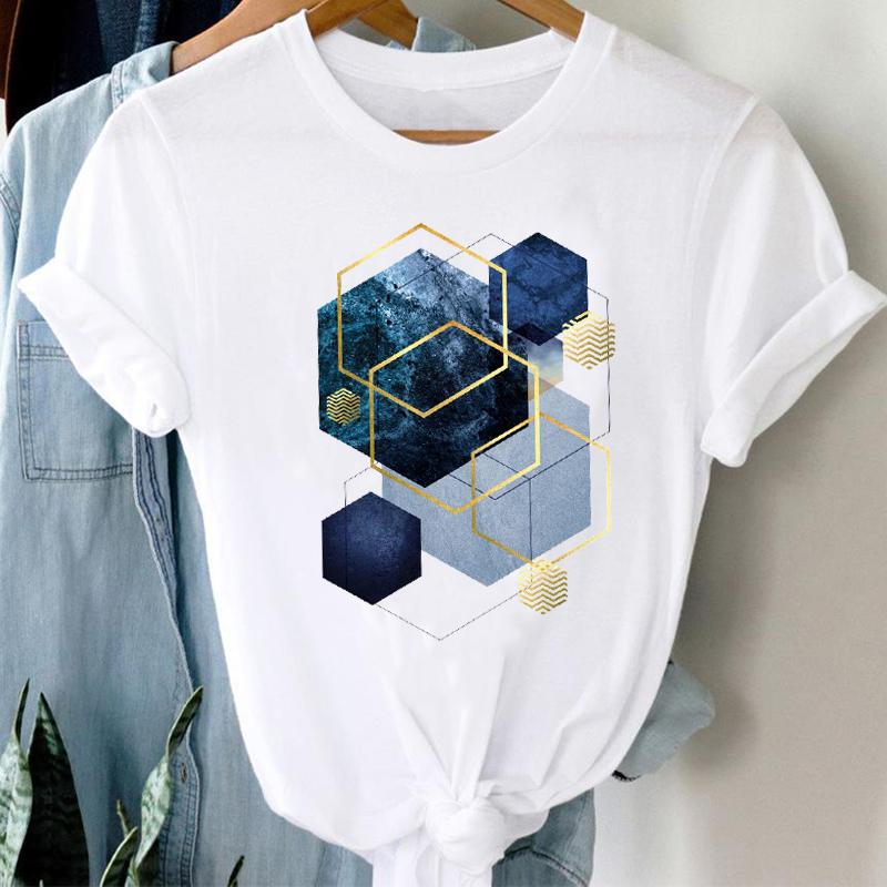 T shirts Women 90s Clothing Casual Ladies Cute Printing Travel  Fashion Clothes Graphic Tshirt Top Lady Print Female Tee T Shirt