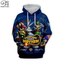 women Men Cartoon Bugs Bunny looney tunes print 3d hoodie Sweatshirt zipper unisex casual Pullover autumn jacket tracksuit shirt