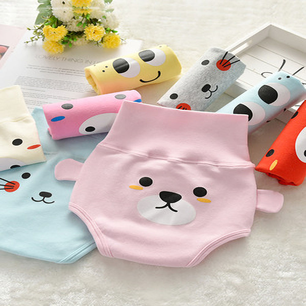 Baby  Cotton Underpants High Waist  Protection Belly Underwear Newborn Underpants 0-2 Years Old