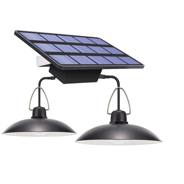 Lampa słoneczna LED żarówka sufitowa ganek słoneczny żyrandol z przewodem 9.8FT lampa słoneczna do oświetlenia ogrodu