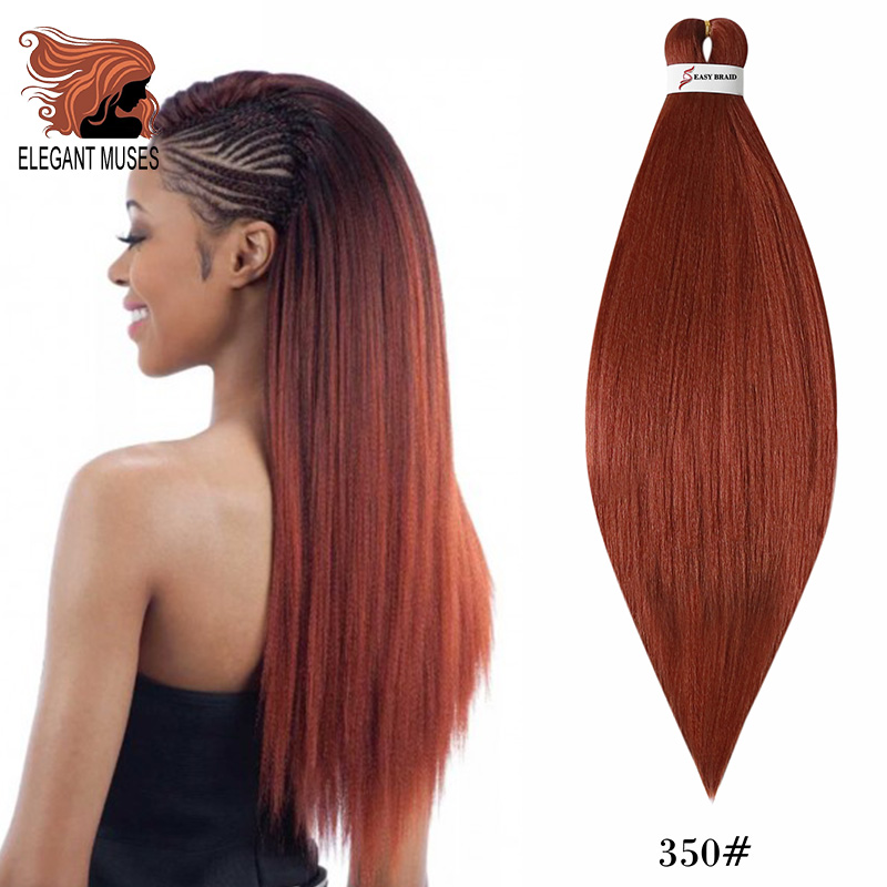 ELEGANT MUSES 3 Color Crochet Hair 26 Inch Easy Jumbo Braids Hair Ombre Braiding Hair Synthetic Extension Low Temperature Fiber