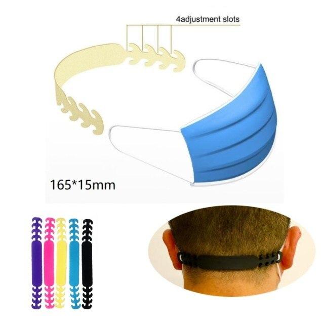 Face Mask Ear Hooks Extension Buckle  Kids Adults Adjustable Earache Fixer Anti-Slip Mask Ear Grip Extension Hook Mask Holder 1