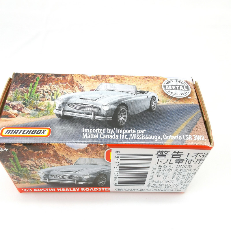 2019 Matchbox Cars 1:64 Car 63 AUSTIN HEALEY ROADSTER  Metal Diecast Alloy Model Car Toy Vehicles