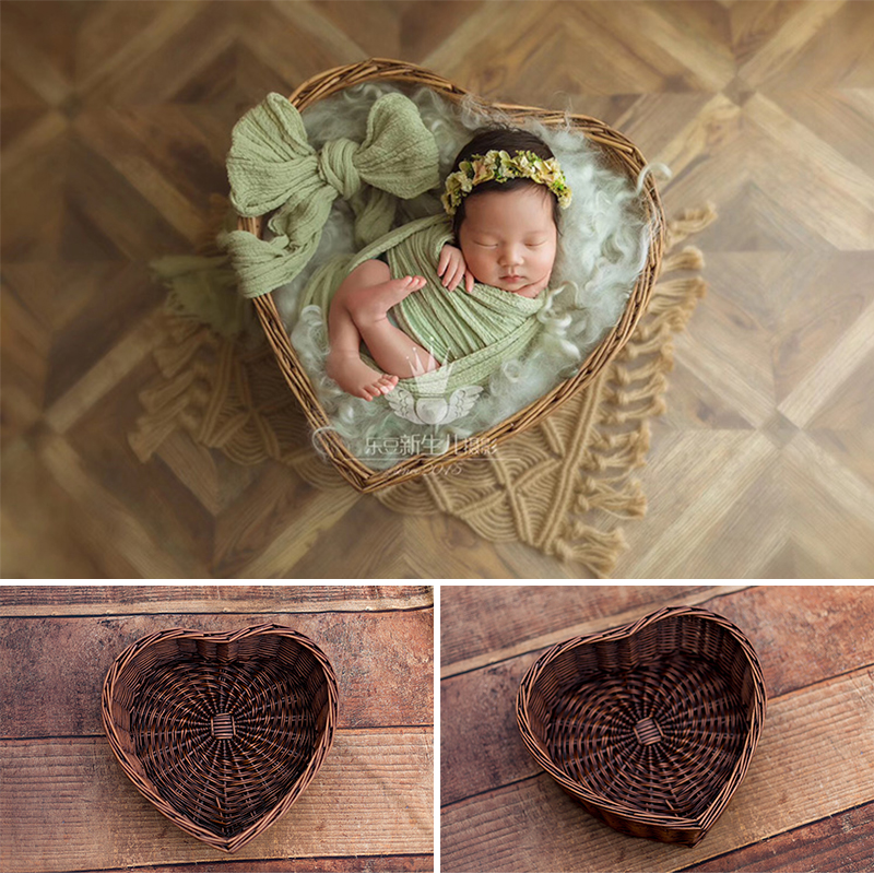 Newborn Photo Shooting Basket Children Baby Full Moon Photography Woven Baskets Newborn Photography Rattan Basket Hot