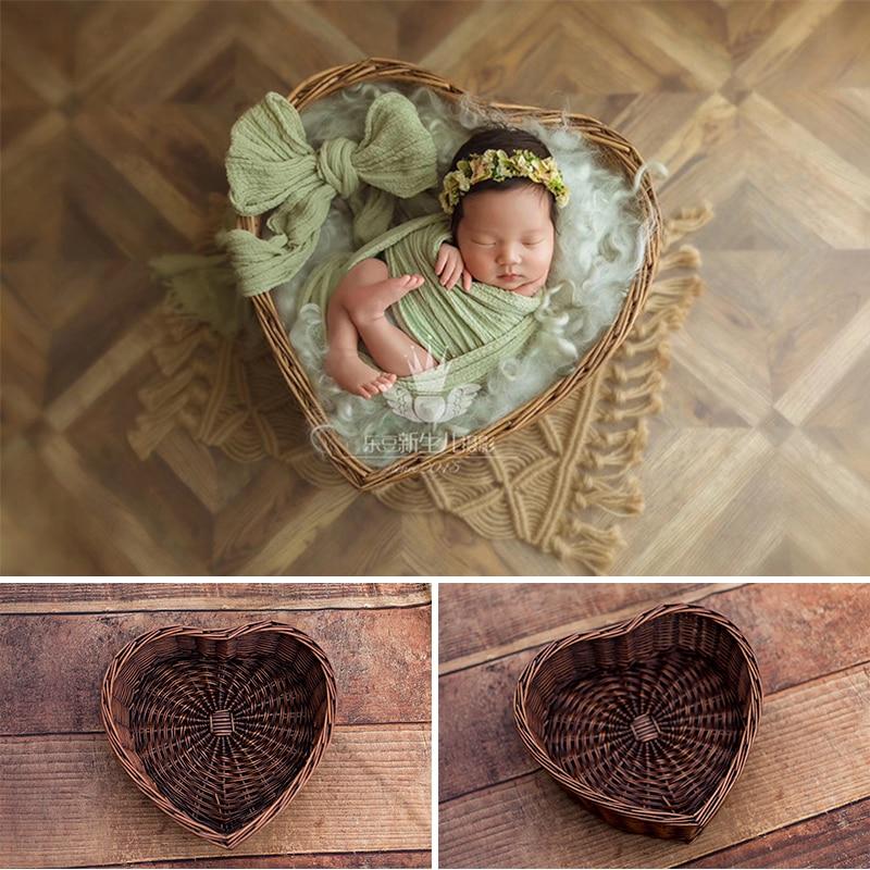 Newborn Photo Shooting Basket Children Baby Full Moon Photography Woven Baskets Newborn Photography Rattan Basket Hot