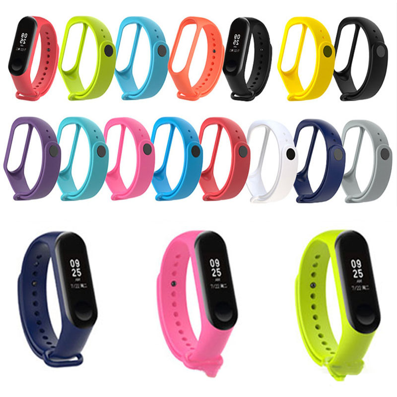 Bracelet For Xiaomi Mi Band 3 4 Sport Strap Watch Silicone Wrist Strap For Xiaomi Mi Band 3 4 Bracelet Miband 4 3 Strap Replace