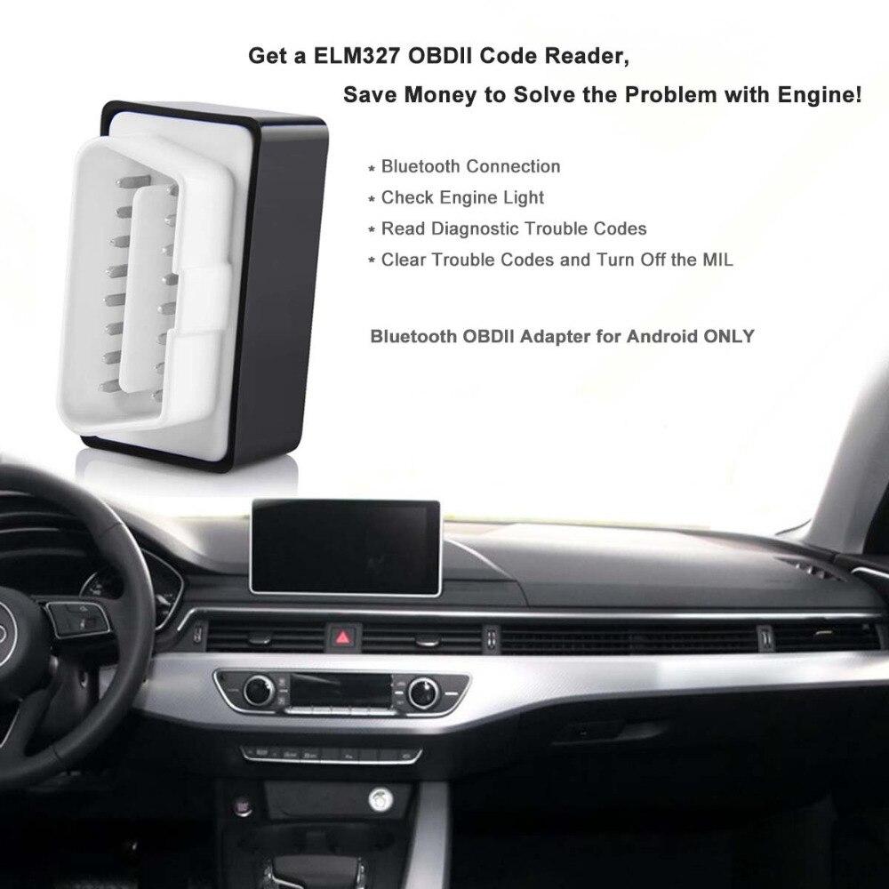 FUXUAN Super Mini ELM327 OBDII OBD2 Bluetooth Car Diagnostic Wireless Scanner Tool Car Accessories