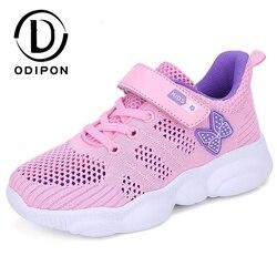 Dziecięce buty do biegania letnie trampki dziewczęce oddychające siatkowe buty sportowe dziecięce wzór motyl chłopięce obuwie Chaussure Enfant
