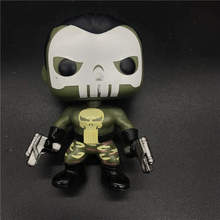 movie Marvel Punisher (Nemesis) Vinyl Action Figures Collectible Spring head Model Toy