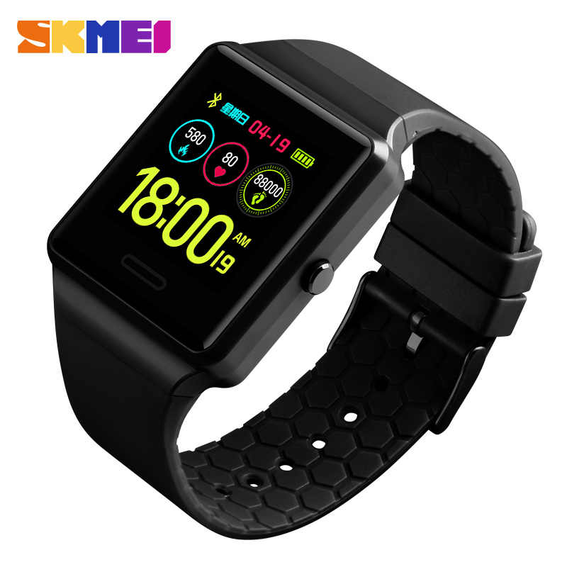 SKMEI Fashion Smart Watch Touch Screen Multifunction Waterproof BlueTooth Watches Blood Pressure Monitor Health Wristwatche 1526